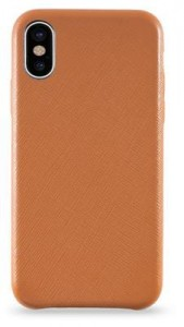 KMP Leather Case etui dla iPhone X/XS (brązowy)
