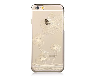 Comma Crystal Flora 360 Etui iPhone 6S/6 (Champagne Gold)