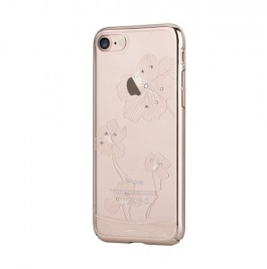 Comma Crystal Flora 360 Etui iPhone 7 (Champagne Gold)